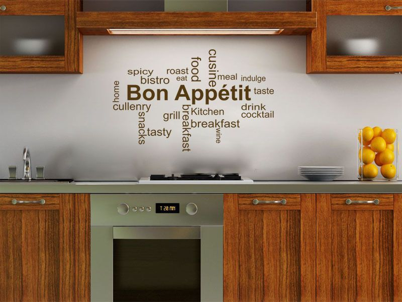Kitchen Wall Quote Bon App Tit Wall Sticker Decal Transfer